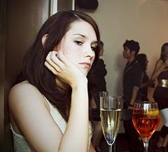 Задумчивая девушка